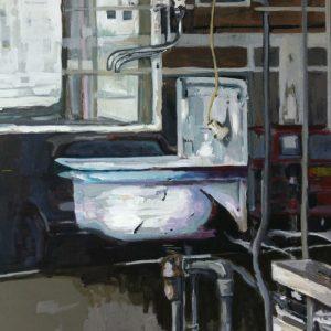 Annemarie van Hooff 'Afgesloten' 120 x 140 cm. JPG