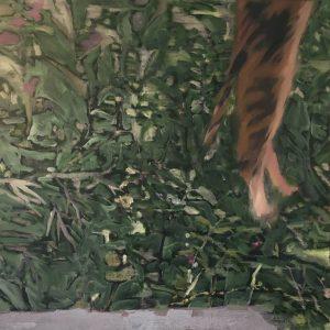 Annemarie van Hooff 'De buurvrouw' 100 x 100 cm