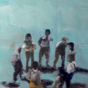 Annemarie van Hooff 'De groep' 30 x 40 cm