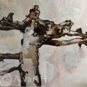Annemarie van Hooff 'Geknot' 160 x 180 cm