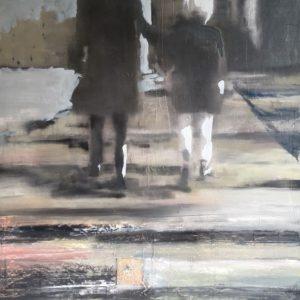 Annemarie-van-Hooff--Langs-de-Rijnkade--100-x-120-cm