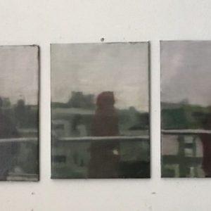 Annemarie-van-Hooff--Over-de-brug--125-x-30-cm