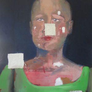 Annemarie-van-Hooff--Portret-in-het-groen--80-x-100-cm