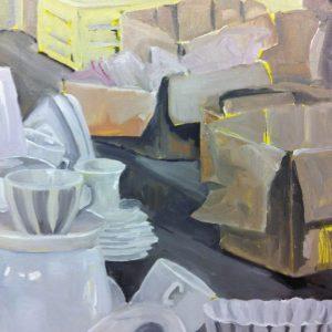 Annemarie van Hooff 'Voor onderweg' 80 x 100 cm